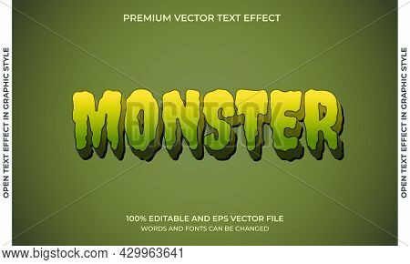 Editable Text Effect - Monster