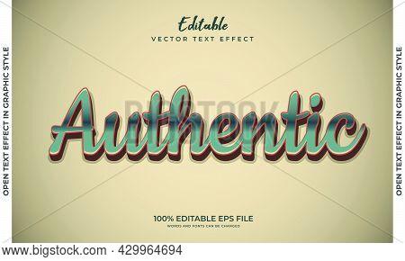 Editable Text Style Effect. Editable Font Style. Vector Illustration