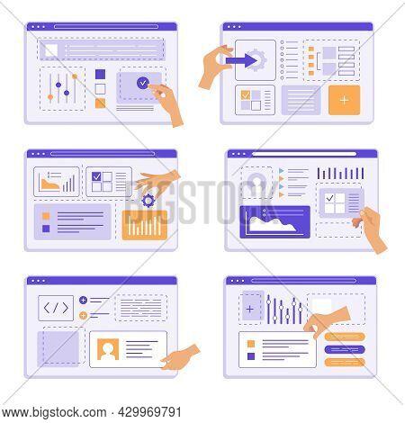 Hands Programming. People Team Design Studio Creation App Agency Engineering Device Recent Vector Cr