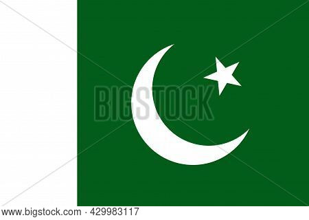 National Flag Islamic Republic Of Pakistan - Vector,