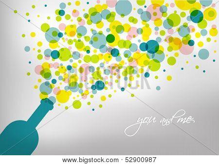 Invitation card. Birthday and wedding card.