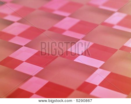 Frosted Glass Checkerboard In Red
