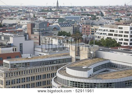 Berlin Cityscape From Cathedral Tower,