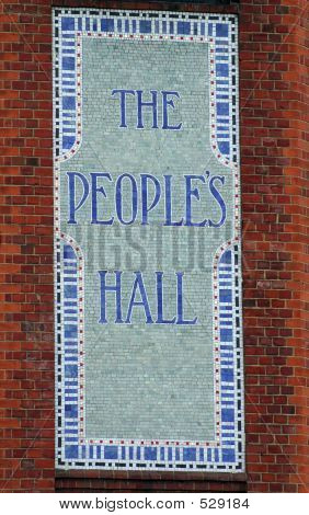 The People's Hall Sign