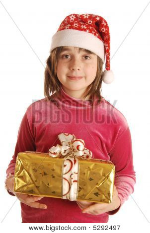 The Girl With Present Box