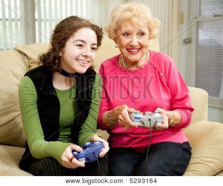 Video Game Fun With Grandma