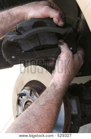 New Brake Pads In Caliper