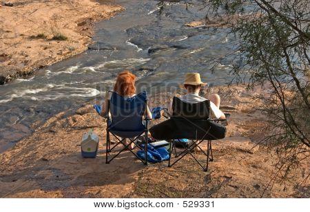 Couple Enjoying River #2