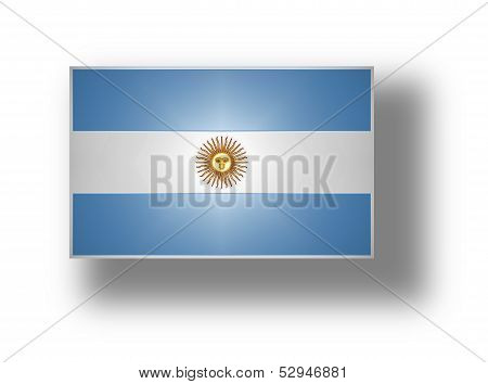 Flag Of Argentina With Sun Of May (stylized I).