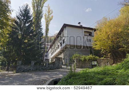 Beauty Dragalevtzi Orthodox Monastery in Vitosha mountain