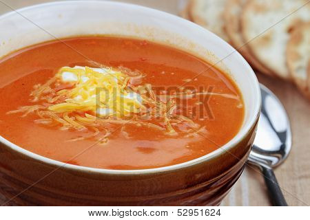 Tomato Bisque With Cheese