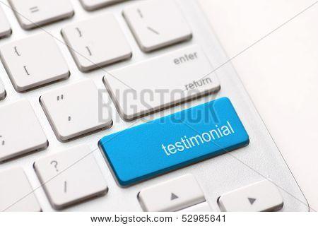 Testimonial On Return Key