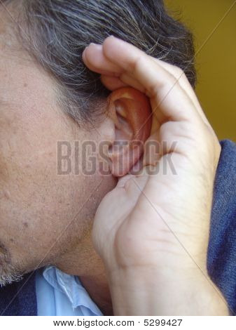 Deafness gesture