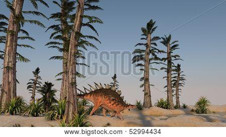 kentrosaurus in tempskya grove