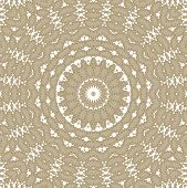 Beige abstract background with radial concentric pattern poster