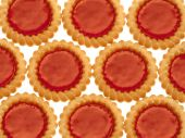Crispy cookies with marmalade on a white background poster