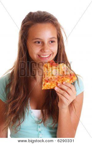 Happy Pizza Girl