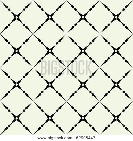 Simple geometric vector pattern - lines on background poster