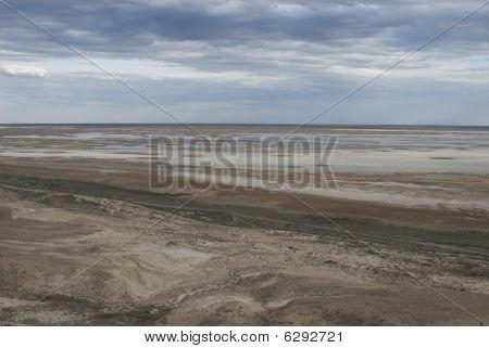Kaspischer Plateau neben der Aral-See