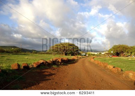Red Dirt Road on the South Shore of Kauai, Hawaii