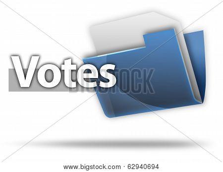 3D Style Folder Icon Vote
