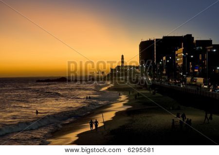 Fantastic Sunset And Lighthouse