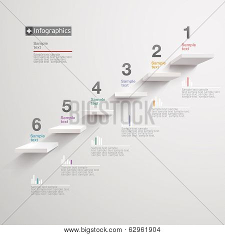 White infographics elements.