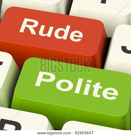 Rude Polite Keys Meaning Good Bad Manners poster