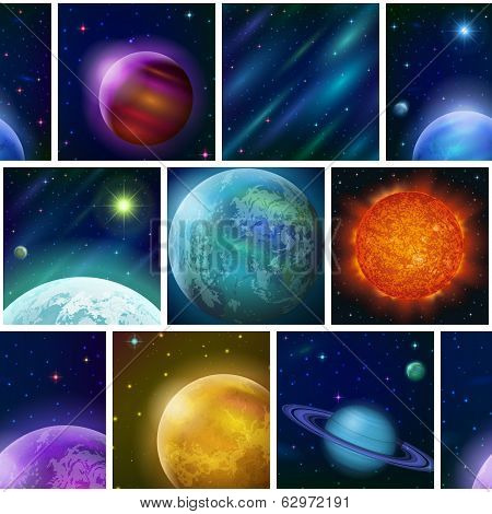 Fantastic space background, seamless