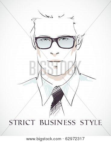 Fashion businessman portrait