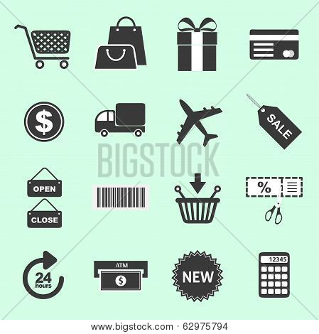 List of shopping related icons