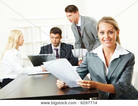 Attractive Secretary