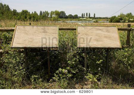 Blank Notice Boards