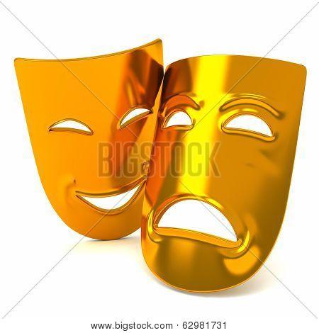 Theatre masks, 3d