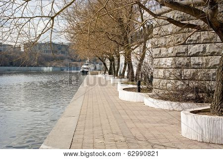 Embankment Of The River Moskva