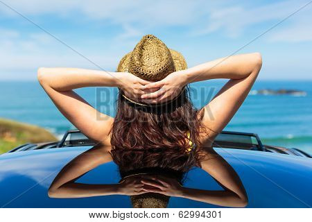 Relaxing Car Travel Summer Vacation