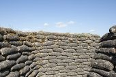 Trenches of death WW1 sandbag flanders fields Belgium poster