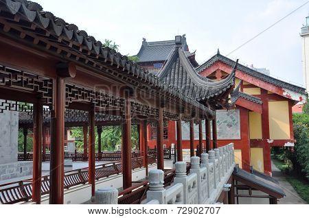 Corridor in Pilu Temple, Nanjing, China
