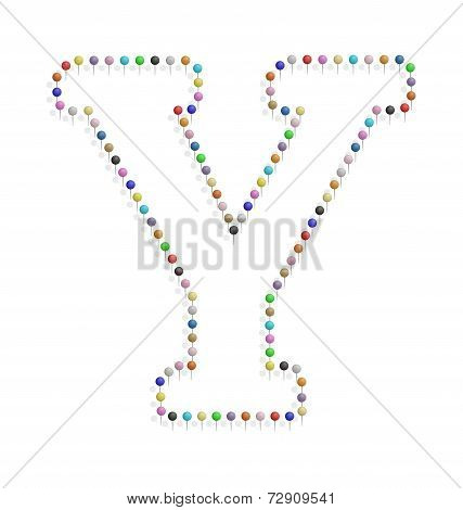 Letter Y With Pushpin