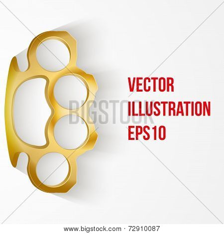 Background of Metal Brassknuckles. Vector illustration.