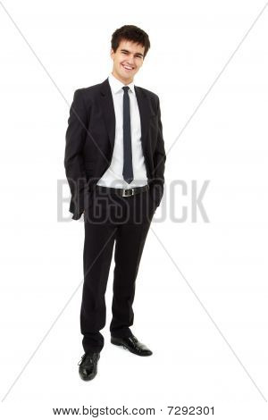 Man Is Wearing A Business Suit