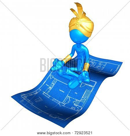 Djinn On Home Construction Blueprint Magic Carpet