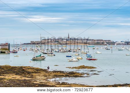 View At Saint Malo From Dinard.