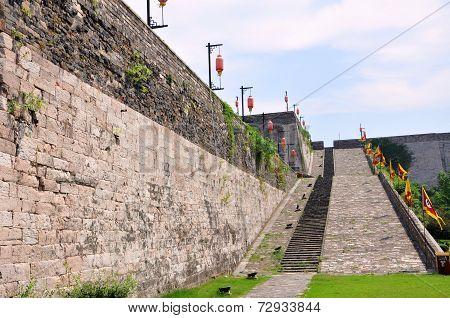 Ramp of Zhonghua Gate in Nanjing, China