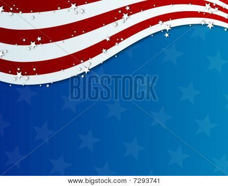 patriotic fourth of july background, red, white and blue poster