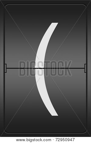Bracket On A Mechanical Leter Indicator