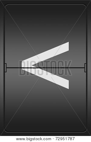 Angle Bracket On A Mechanical Leter Indicator
