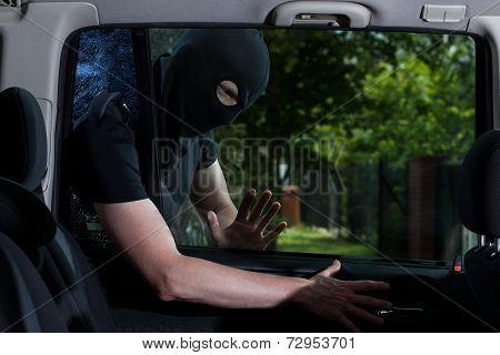 Thief Open Car Lock