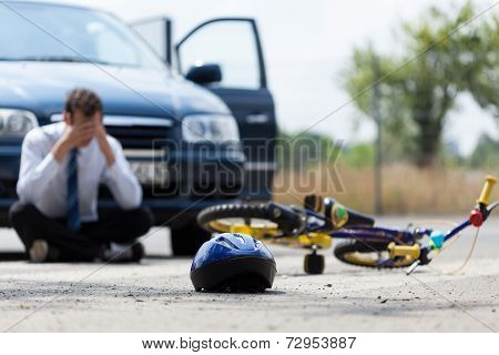 Driver After Car Accident