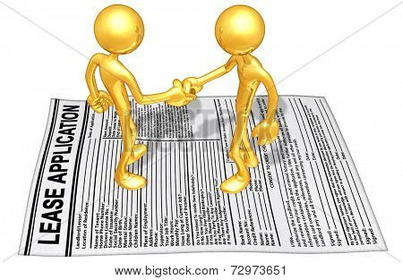 Gold Guy Lease Application Handshake